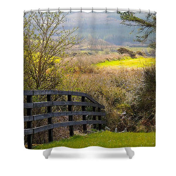 Irish Countryside In Spring Shower Curtain