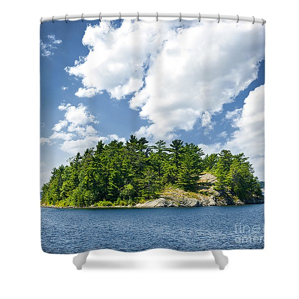 Island In Georgian Bay Shower Curtain