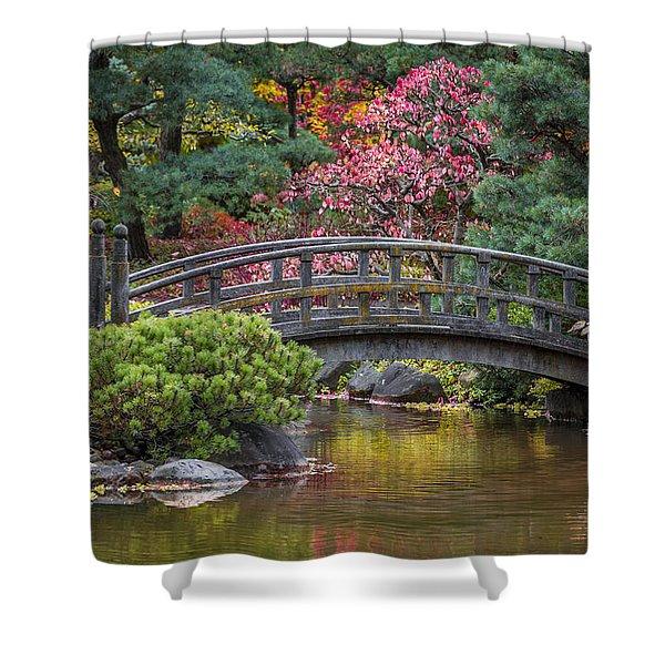 Japanese Bridge Shower Curtain