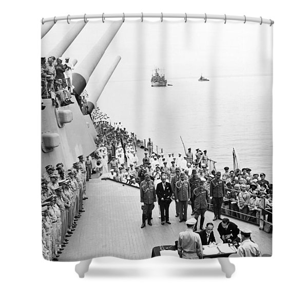 Japanese Surrender Ceremony Shower Curtain