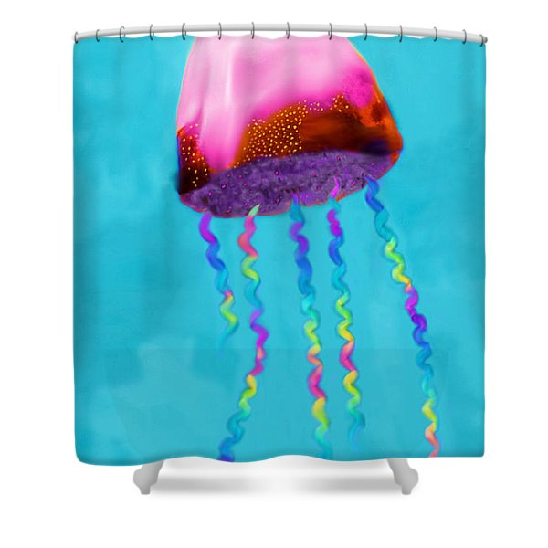 Jelly The Fish Shower Curtain