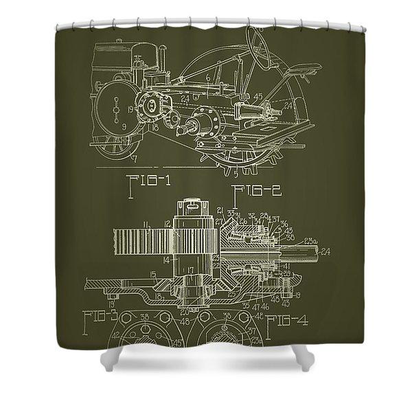 John Deere Tractor Patent 1933 Shower Curtain