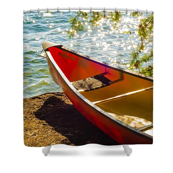 Shower Curtain featuring the photograph Kayak By The Water by Alex Grichenko