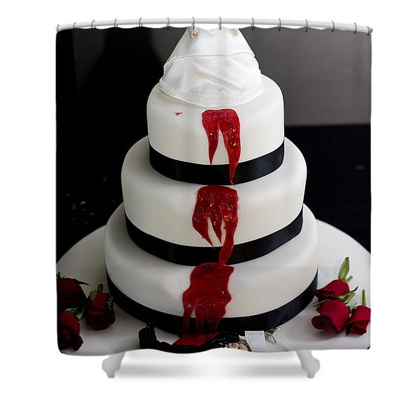 Killer Bride Wedding Cake Shower Curtain
