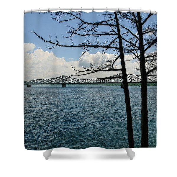Kimberling City Bridge Shower Curtain