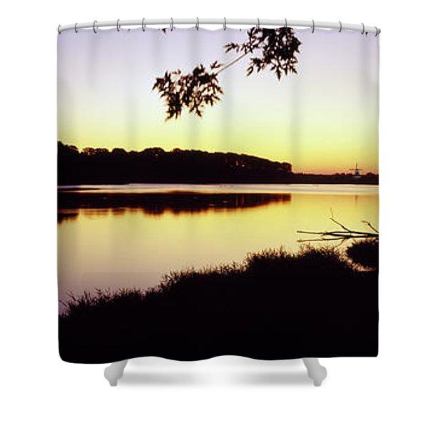 Lake At Sunset, Windmill Island Shower Curtain