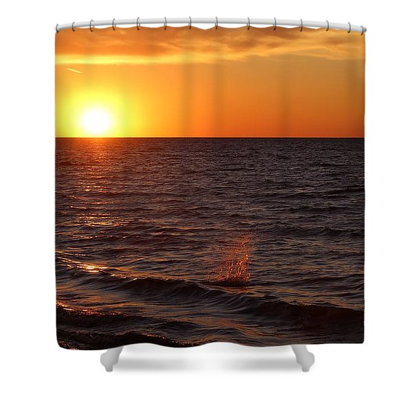 Shower Curtain featuring the photograph Lake Ontario Sunset by Jemmy Archer