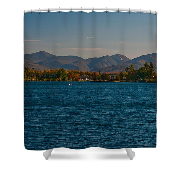 Lake Placid And The Adirondack Mountain Range Shower Curtain