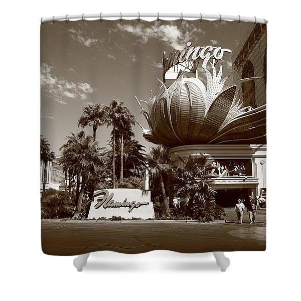 Las Vegas 2008 Sepia #1 Shower Curtain