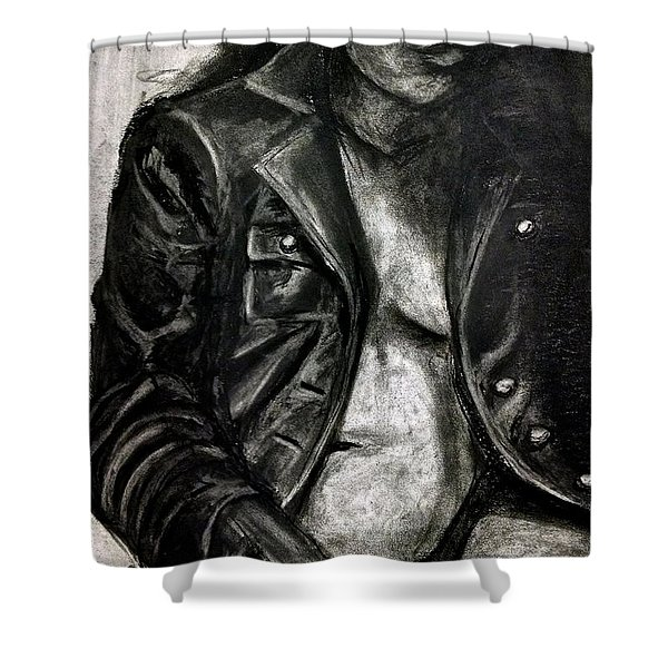 Leather Jacket Shower Curtain
