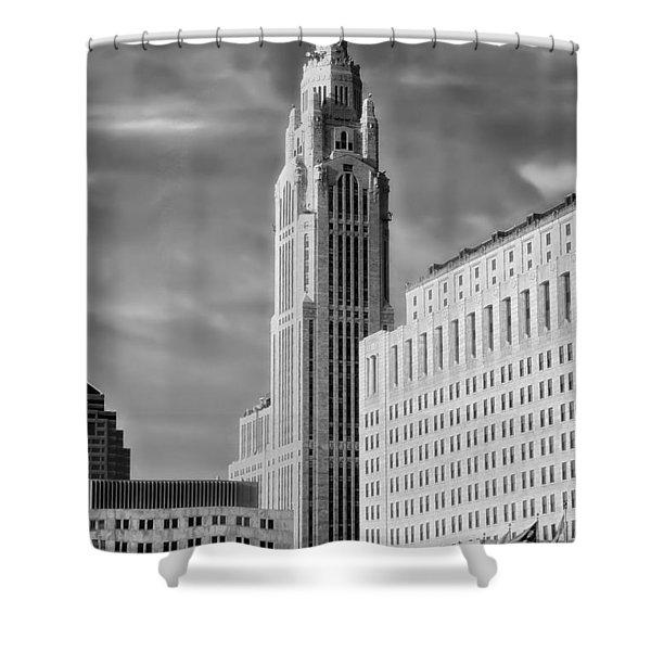 Leveque Tower Columbus Ohio 1975 Shower Curtain