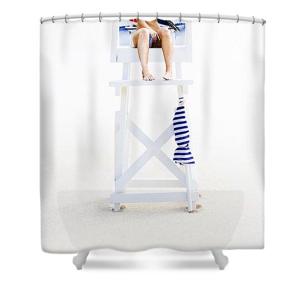Lifeguard Shower Curtain