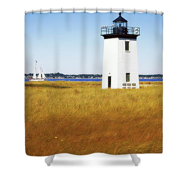 Lighthouse On The Beach, Long Point Shower Curtain