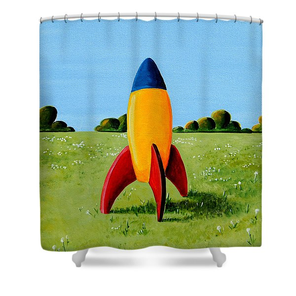 Lil Rocket Shower Curtain