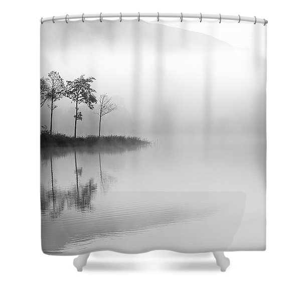 Loch Ard Trees In The Mist Shower Curtain