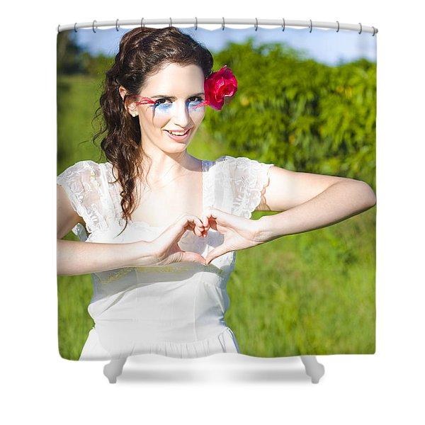 Love Heart Sign Shower Curtain