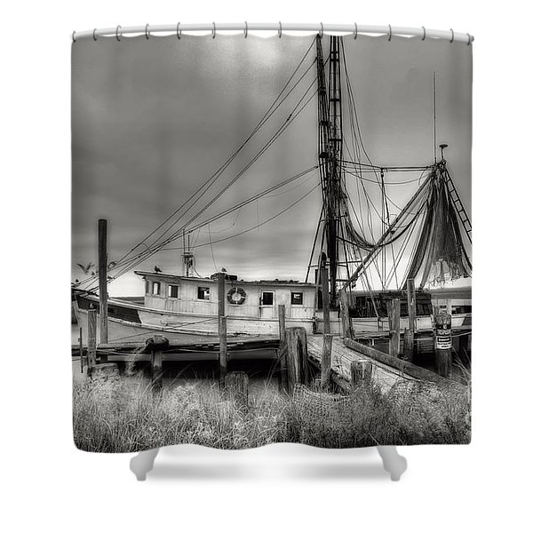 Lowcountry Shrimp Boat Shower Curtain