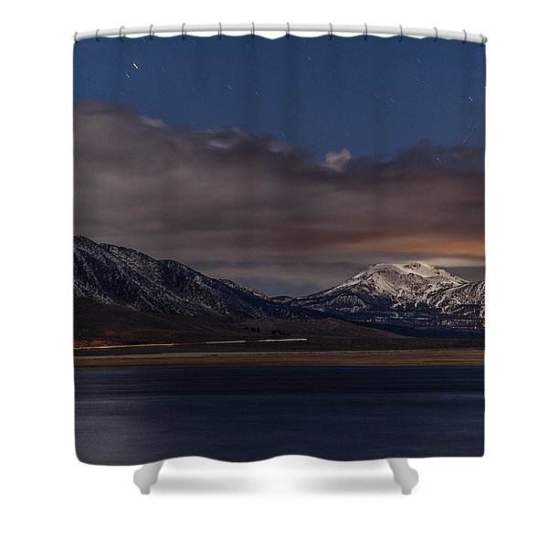 Mammoth At Night Shower Curtain