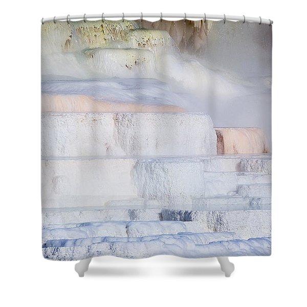 Mammoth Terraces Shower Curtain