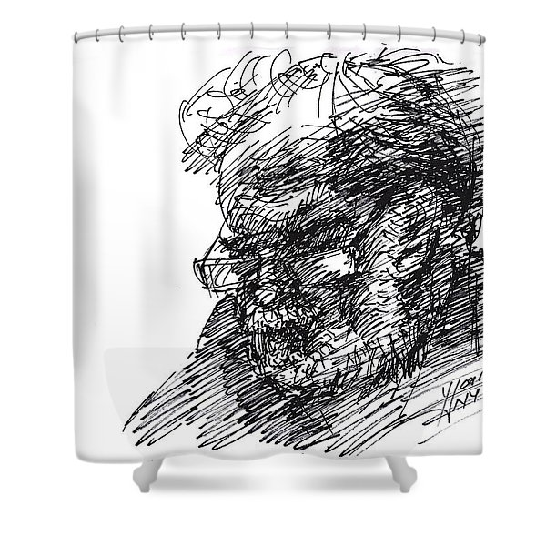 Man In The Corner Shower Curtain