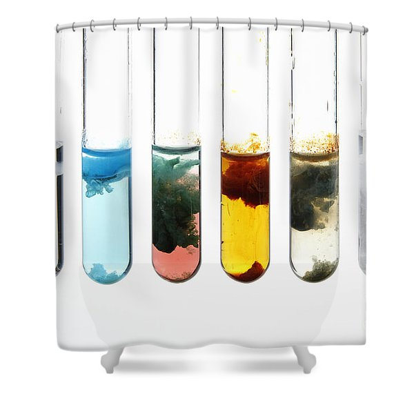 Metal Hydroxide Precipitates Shower Curtain