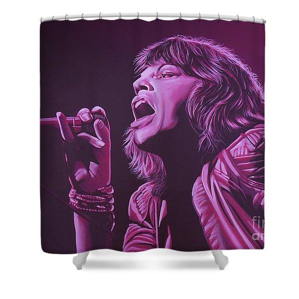 Mick Jagger 2 Shower Curtain