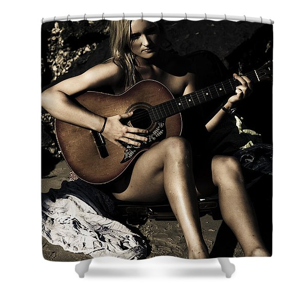 Moonlight Music Shower Curtain