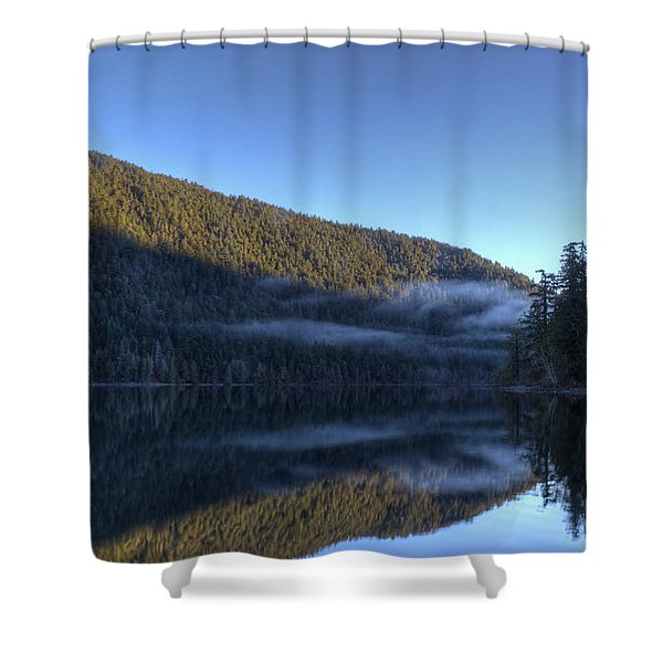 Shower Curtain featuring the photograph Morning Mist by Randy Hall