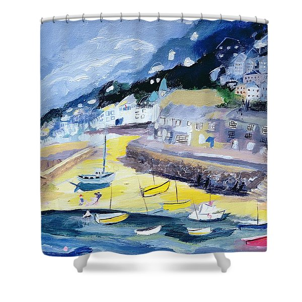 Mousehole, Cornwall, 2005 Acrylic On Board Shower Curtain