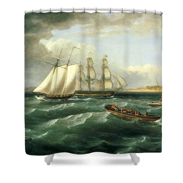 Mouth Of The Delaware Shower Curtain
