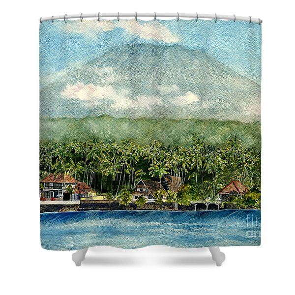 Mt. Agung Bali Indonesia Shower Curtain