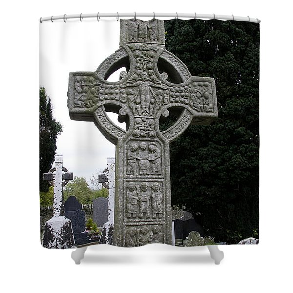 Muiredach's Cross - Monasterboice Shower Curtain