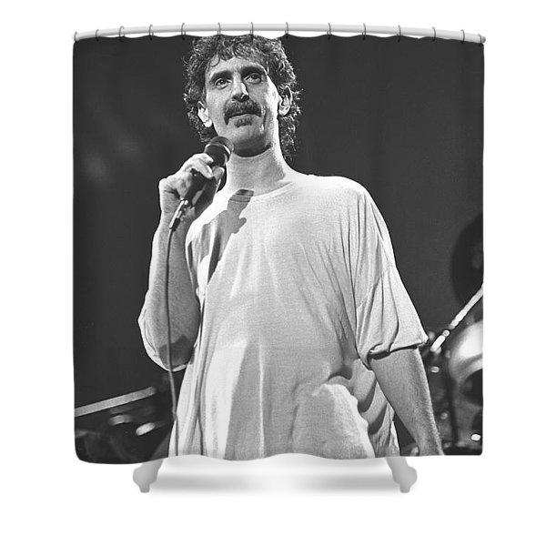 Musician Frank Zappa Shower Curtain
