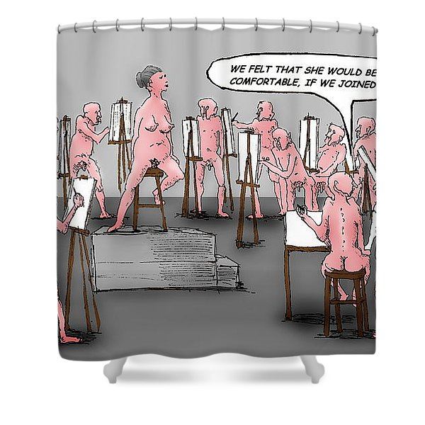 Naked Artists Shower Curtain