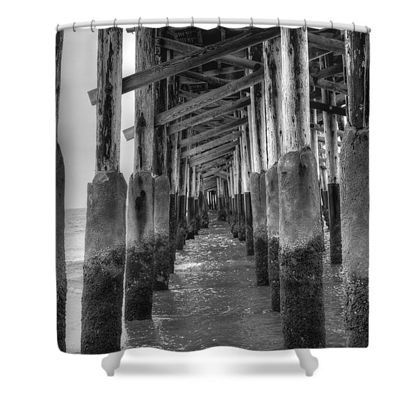 Newport Beach Pier Shower Curtain