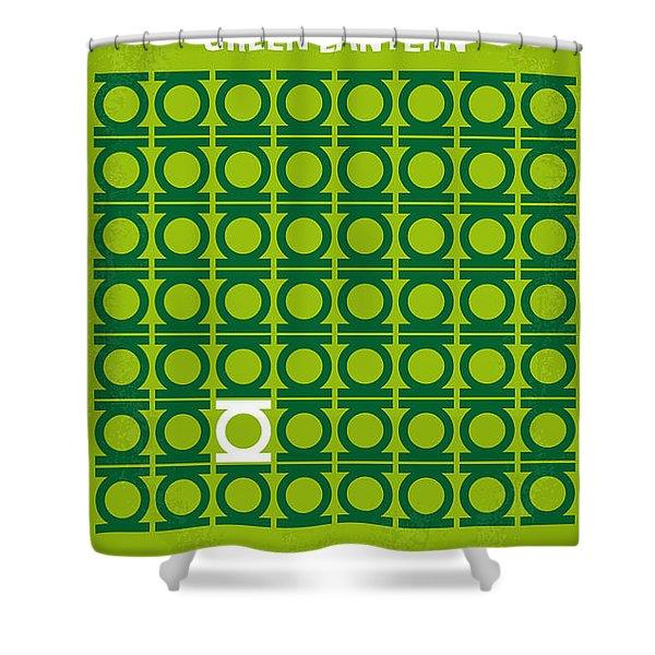 No120 My Green Lantern Minimal Movie Poster Shower Curtain
