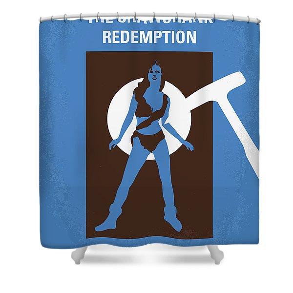 No246 My The Shawshank Redemption Minimal Movie Poster Shower Curtain