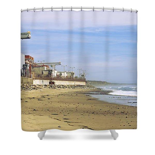 Nuclear Power Plant On The Beach, San Shower Curtain