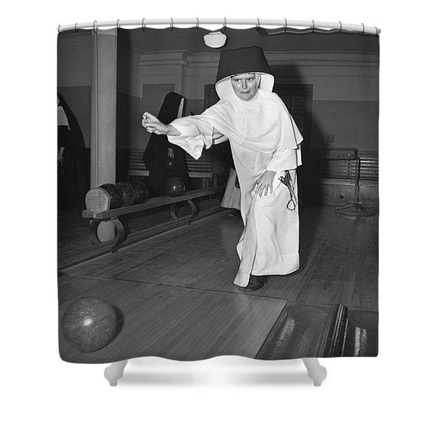 Nuns Bowling Shower Curtain