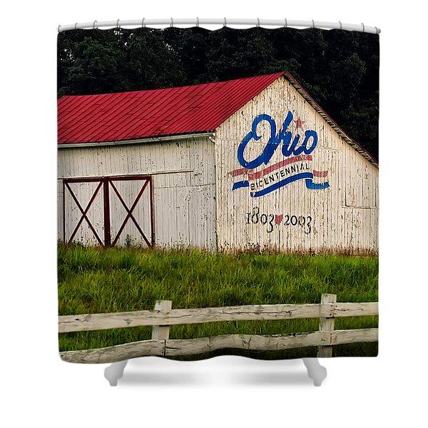 Ohio Bicentennial Barn Shower Curtain