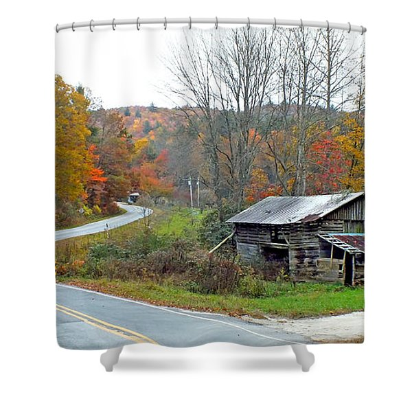 Old Barn Along Slick Fisher Road Shower Curtain