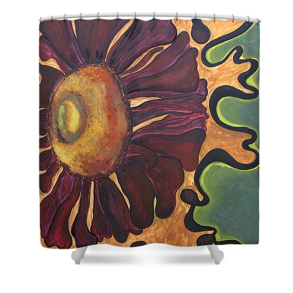 Old Fashion Flower Shower Curtain
