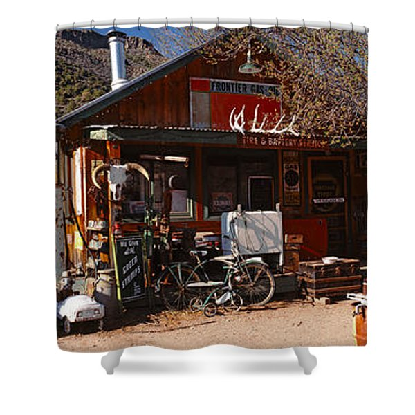 Old Frontier Gas Station, Embudo, New Shower Curtain