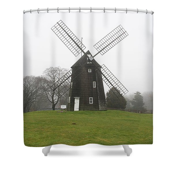 Old Hook Mill Shower Curtain