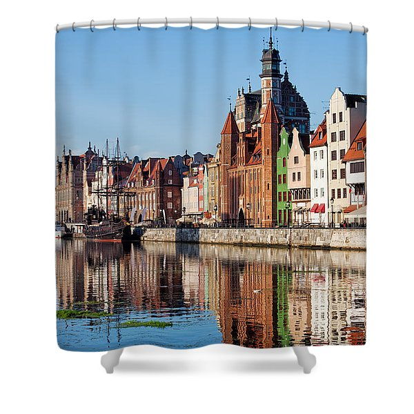 Old Town Of Gdansk In Poland Shower Curtain