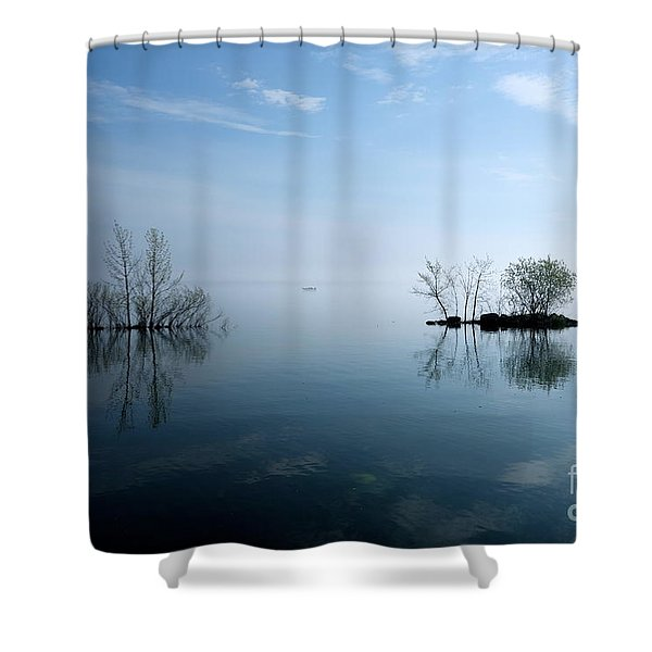 On The Horizon Shower Curtain