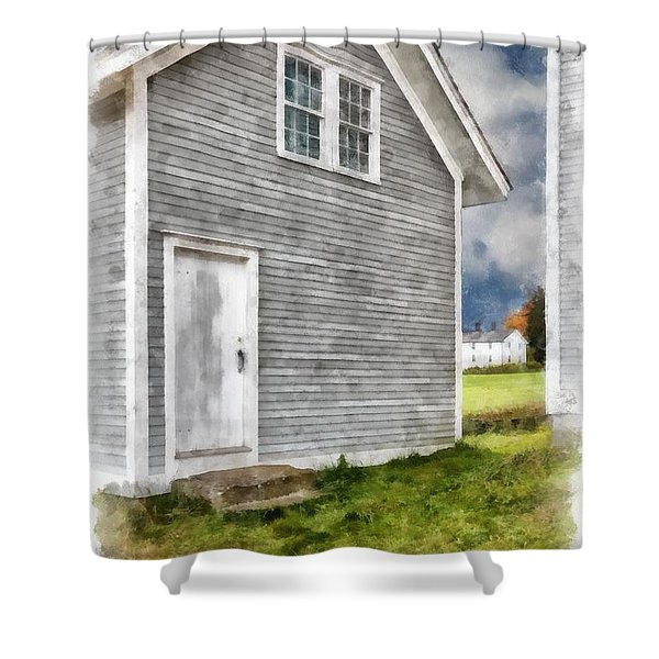 Out By The Woodshed Shower Curtain