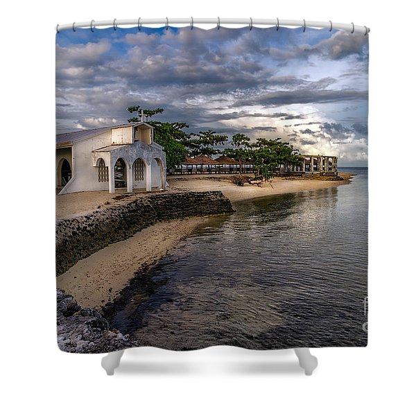 Pandanon Island Chapel Shower Curtain