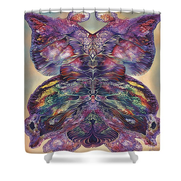Papalotl Series 3 Shower Curtain