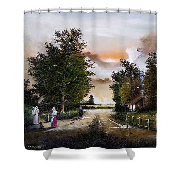Passing The Time Shower Curtain